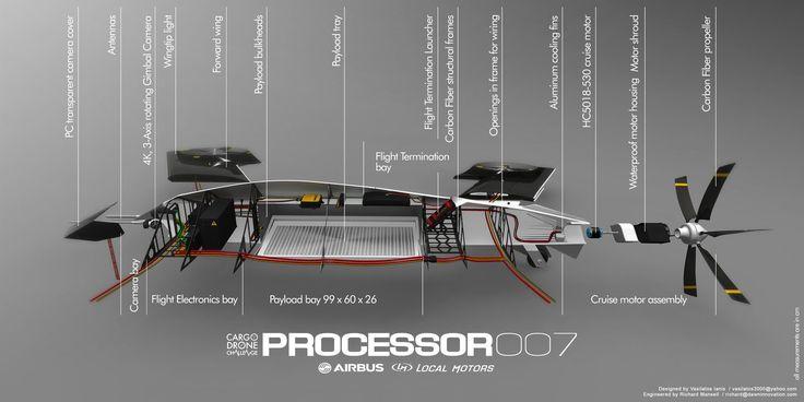 Processor 007 Concept Drone Aircraft by Vasilatos Ianis