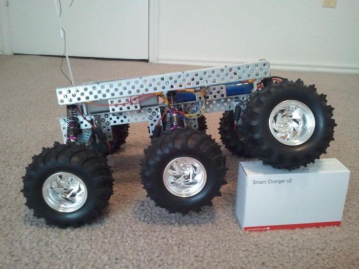 Drone Homemade : PAROVOZ: 6WD all-terrain robot platform | Let's Make Robots...