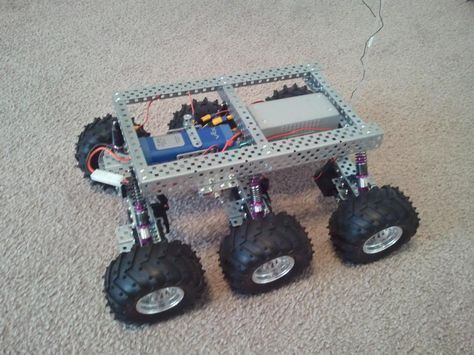 Drone Homemade : PAROVOZ: 6WD all-terrain robot platform   Let's Make Robots...