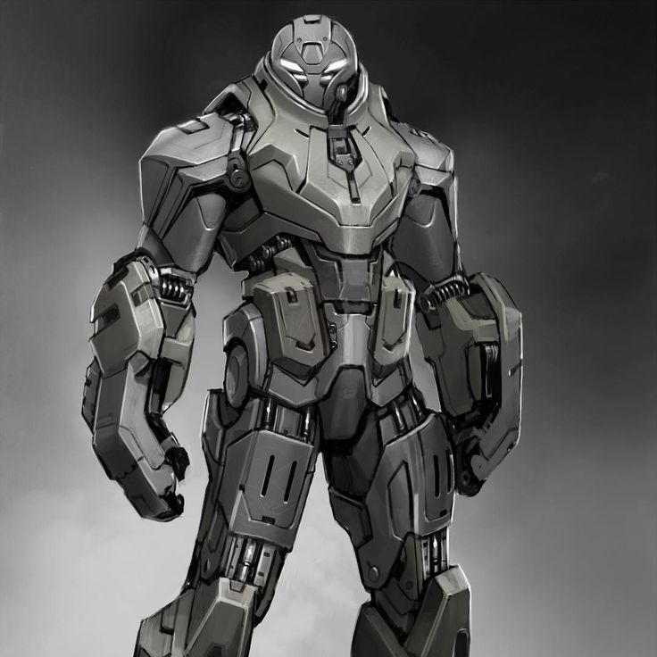 """""""This is an early bad guy design from Iron Man 2 that had a big influence on h..."""