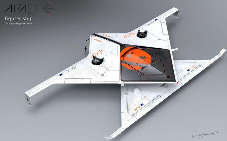 AIPAC / Thrust best fighter ship 3D by Christian Grajewski | Sci-Fi | 3D | CGSoc...