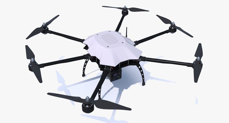 3D obj drone copter hexacopter