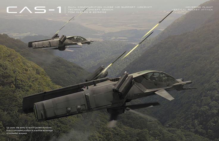 CAS-1 Dual Configuration Close Air Support Platform by Tom Alfaro