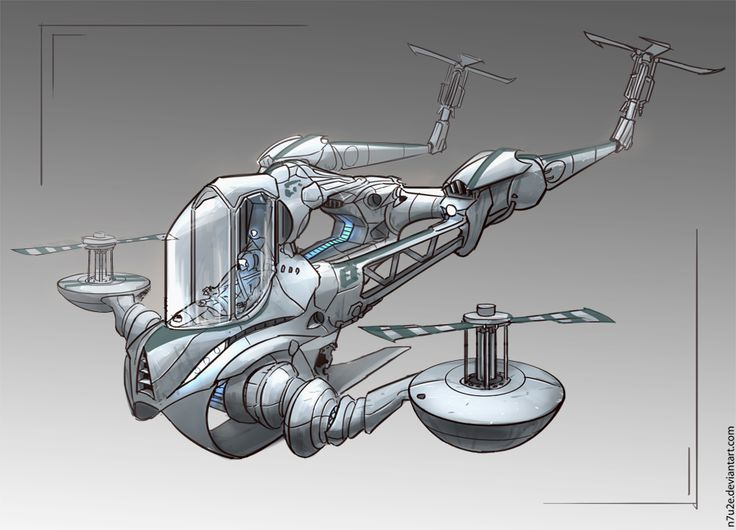 Helicopter concept by N7U2E on DeviantArt