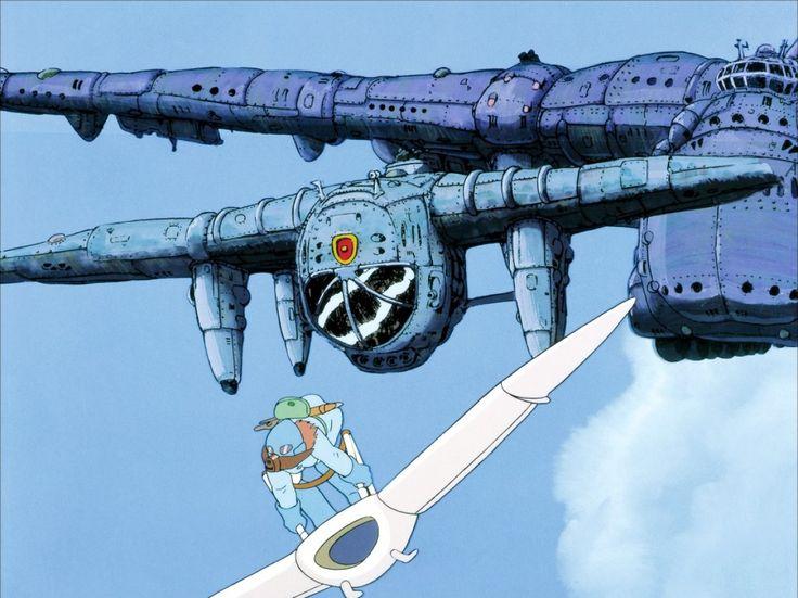 Naussica - miyazaki inspired planes and ships