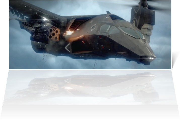 resident-evil-retribution: flying ship