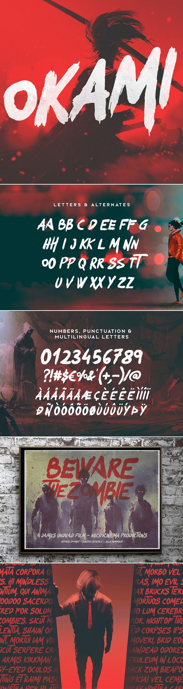 Okami - Brush Font - Sans-Serif Fonts Tap the link for an awesome selection of d...