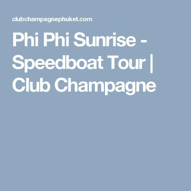Drone Homemade : Phi Phi Sunrise  Speedboat Tour | Club Champagne