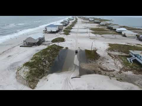 Drone Video Dauphin Island heading to west end - YouTube