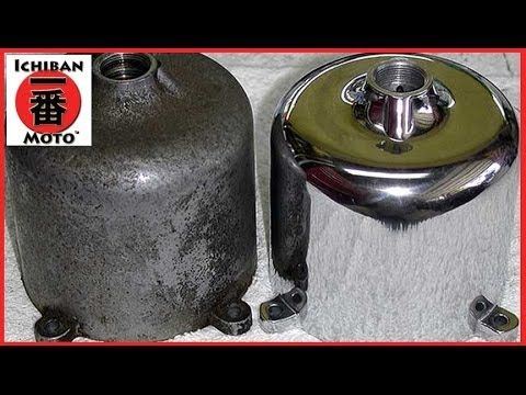 How To Clean and Polish Aluminum and Alloy Metal Engine Polishing on Café Racer...