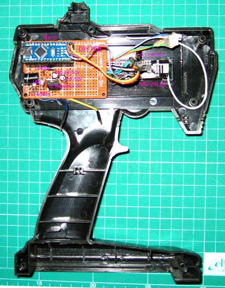 How to Hack RC Car Transmitter Via 2.4 GHz NRF24L01 Arduino Part1 Tx