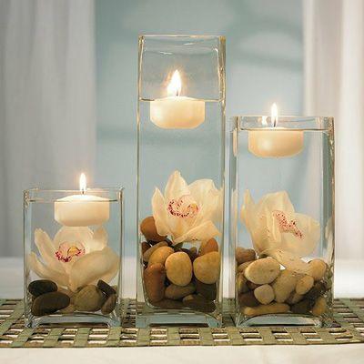 How to make a floating tea candle set - Easy Peasy  bestinhomedecor.c... #homede...