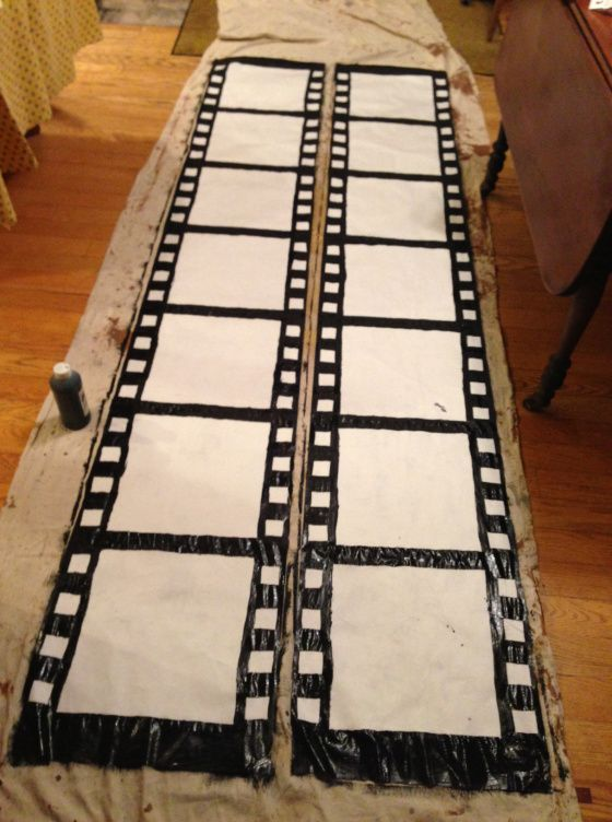 How to make film strip decortations. Full party at thelittlethingsdi...  homamad...
