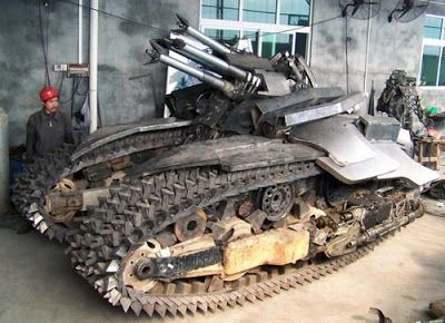 Just A Car Guy : Homemade tank inspired by the Transformers movie... but the tan...