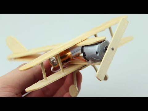 Make a Airplane with Popsicle Sticks - Clothespin - DIY Crafts - Creative with I...