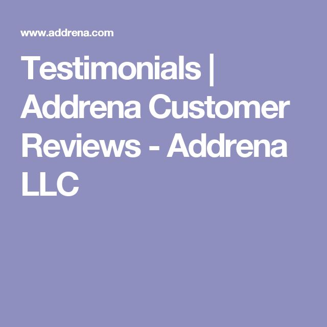 Testimonials | Addrena Customer Reviews - Addrena LLC