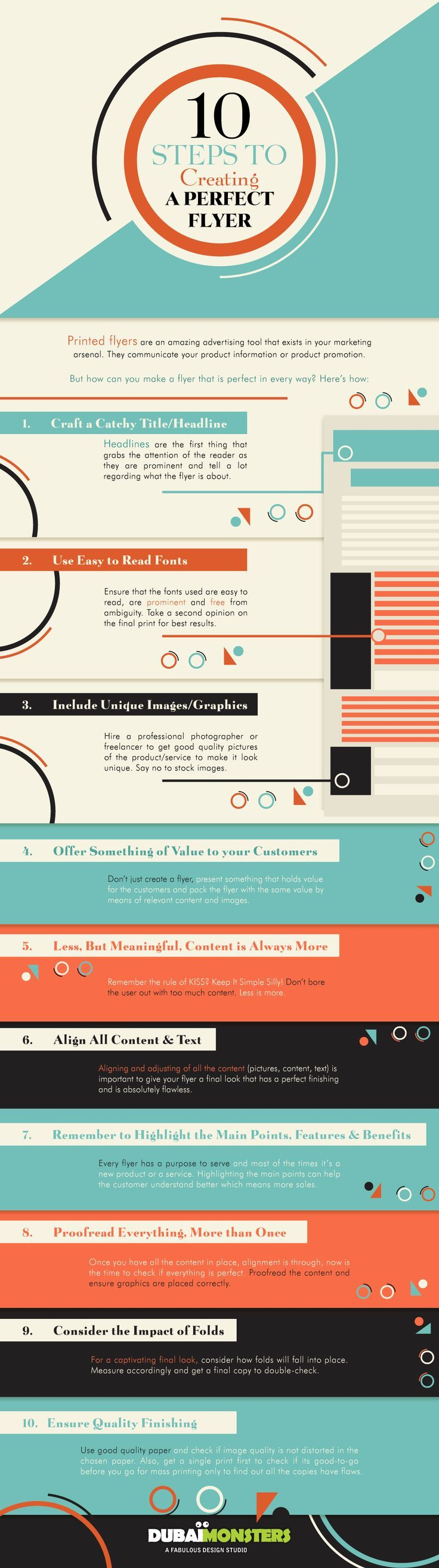 Drone Infographics : 10 Steps To Creating a Perfect Flyer #Infographic #Advertis...