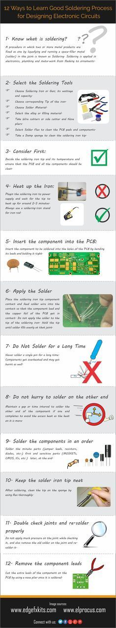 Drone Infographics : 10 Ways to Learn Good #Soldering Process for Designing Elec...
