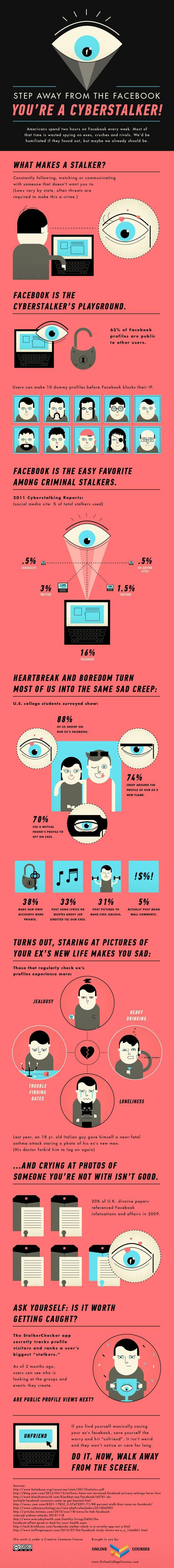 Drone Infographics : Facebook Stalking Statistics 2012