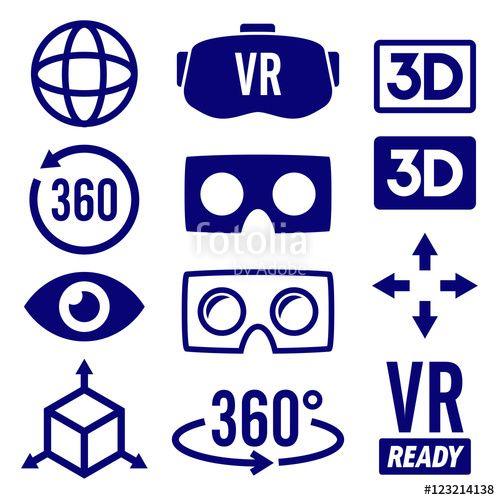 #virtual #reality #icons #vr #gaming #emblem #virtualreality #headset #eye #3d #...