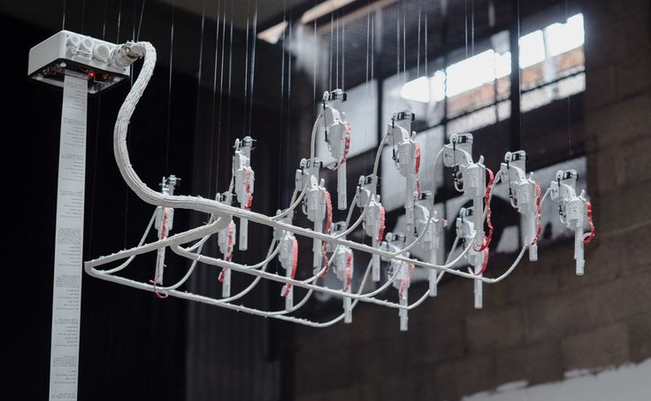 Jonathan Moore's art installation is an autonomous mechanical contraption th...