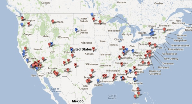 Public intelligence: location of drone bases in the USA. www.theverge.com/...