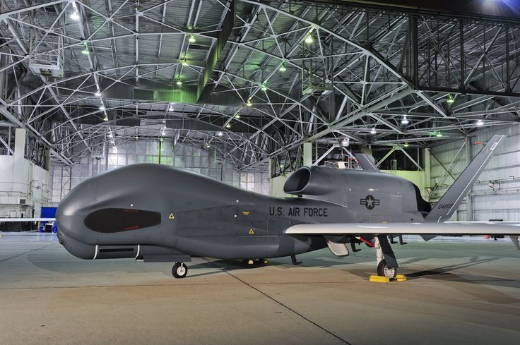 The RQ-4 Global Hawk UAV provides wide-area surveillance capabilities while bein...