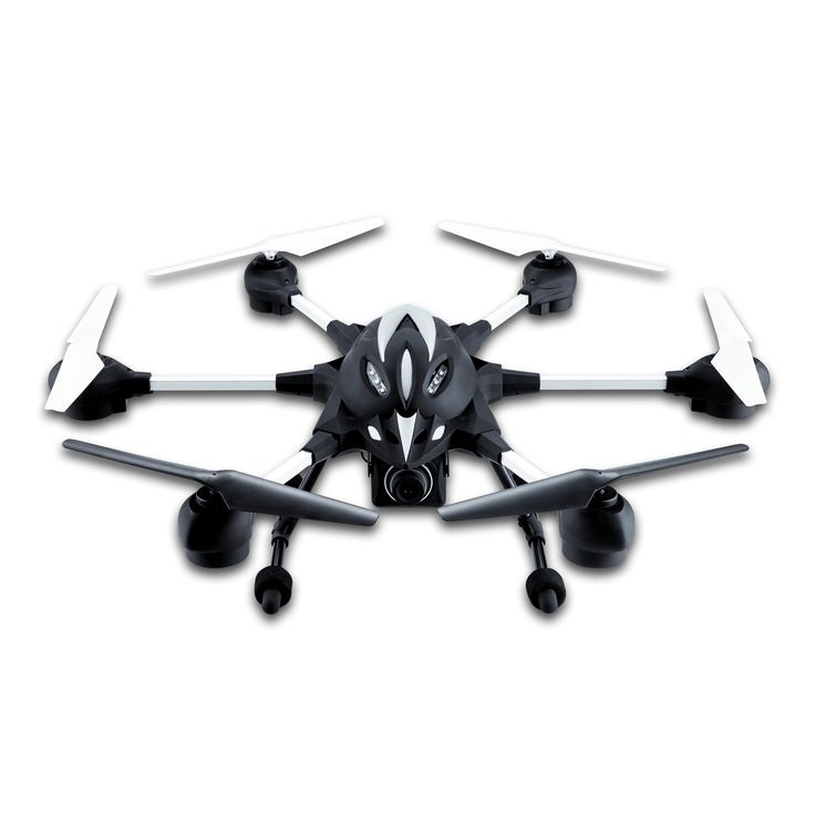This Hexacopter Drone has six motors and rotor blades giving it great speed and ...