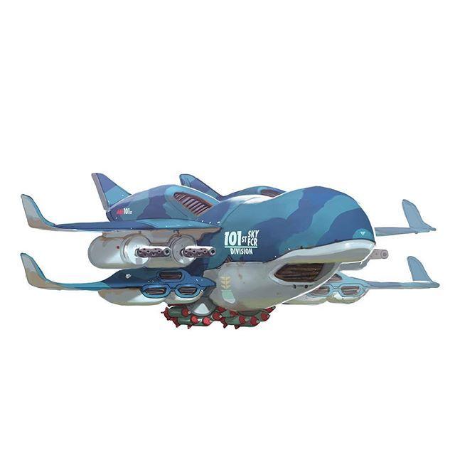 101st LongFin heavy drone support for #genesiswars. #art #illustration #artistso...