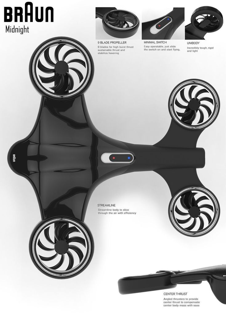 Braun - Midnight Drone Concept on Behance #droneconcept