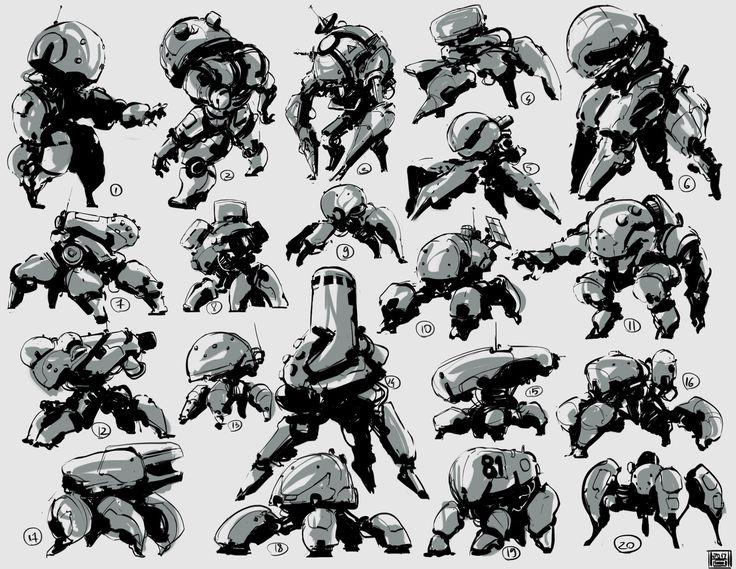 Mech thumbnails Week 10 of sketches 2017, Hue Teo on ArtStation at www.artstatio...
