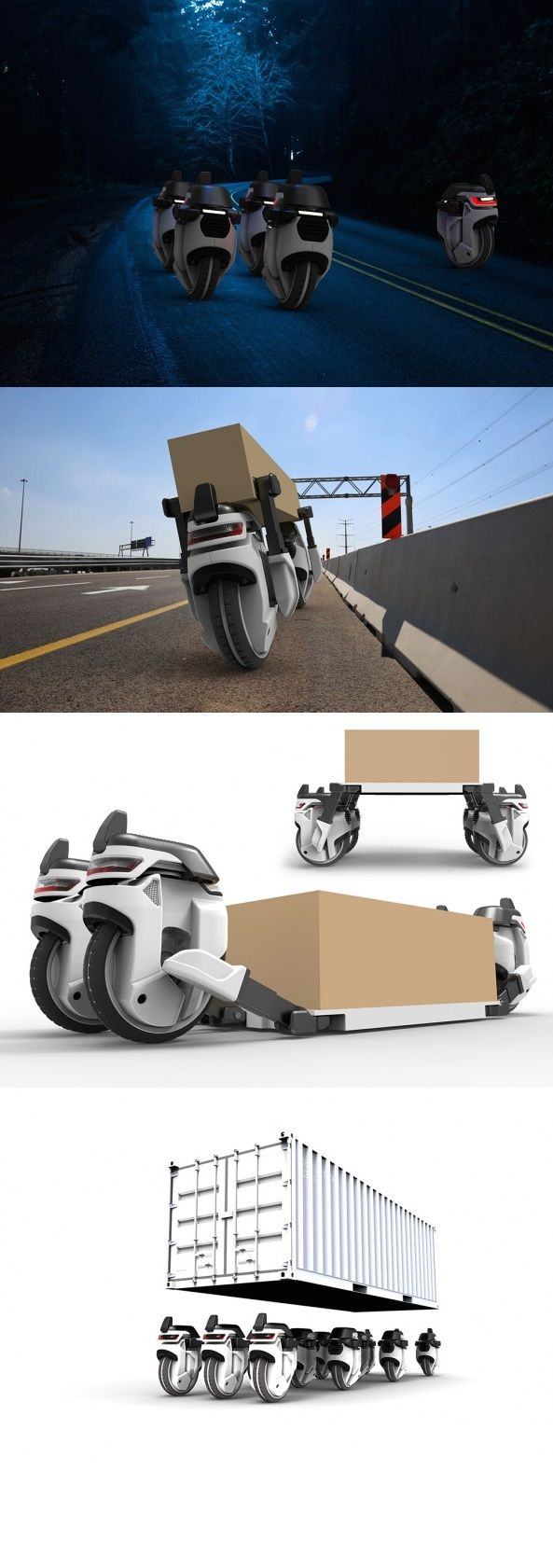 The Transwheel concept reimagines package distribution as a round-the-clock auto...