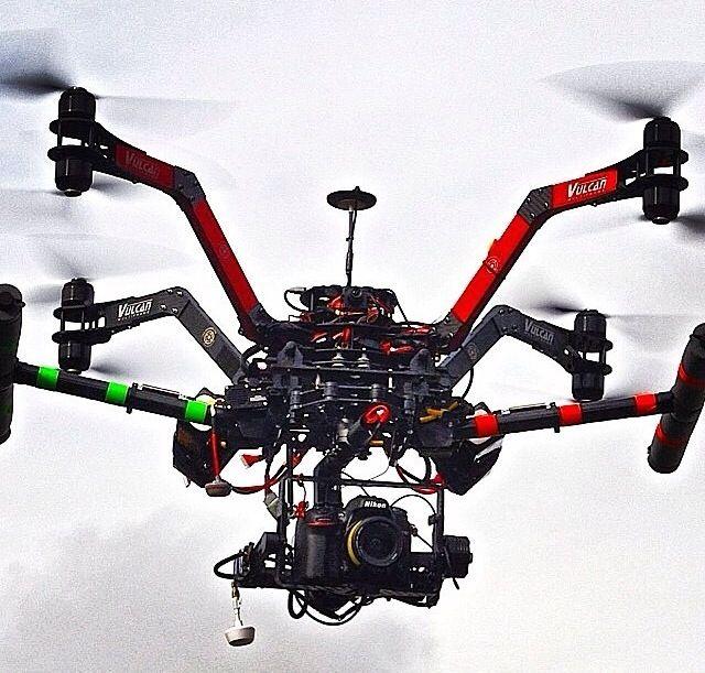 (medium size AUV, Vulcan X8) aerial drones, muticopter, aerial video, aerial pho...