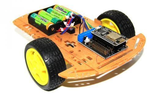 Drone Homemade : ESP8266 Serial WiFi Smart Car with NodeMCUMotor shieldCar Chass...
