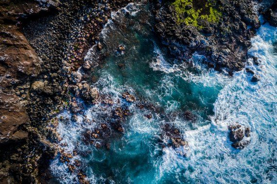 Landscape Photography, Maui, Hawaii, Nature Photography, Aerial Drone, Ocean, Ro...