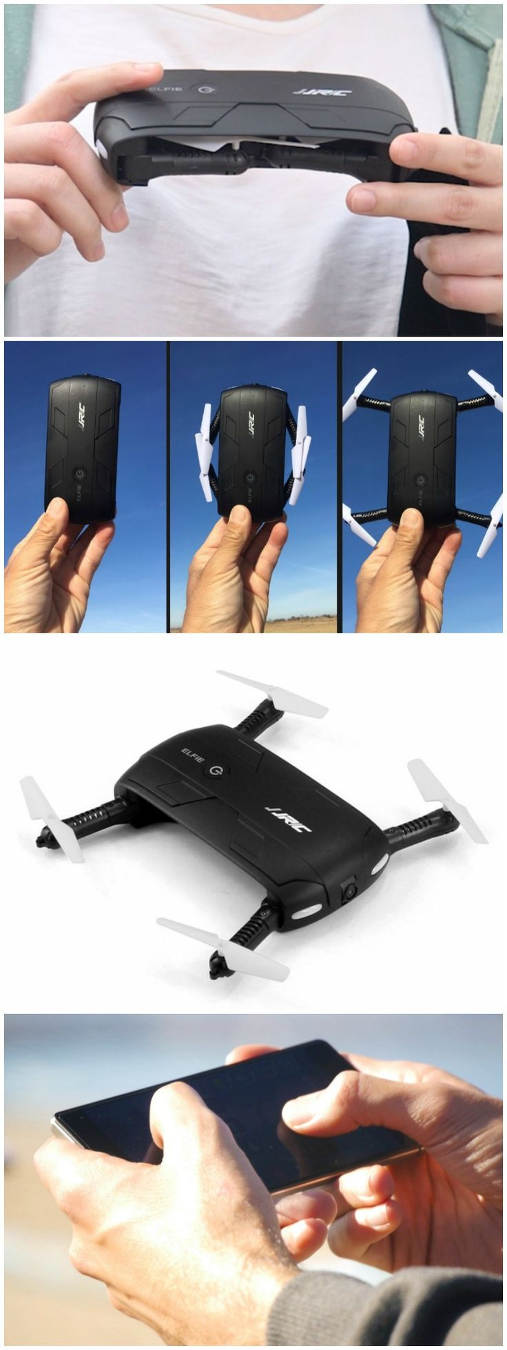 ELFIE Foldable Mini RC Selfie Drone