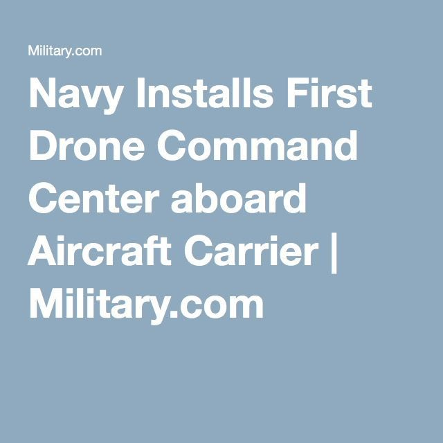 Military Drone: A drone command center has been installed aboard an aircraft car...