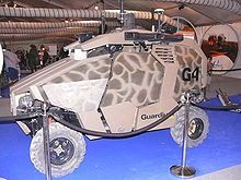 Military Drone: The Guardium is an Israeli unmanned security vehicle (USV) creat...