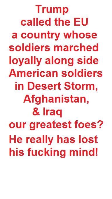 #TrumpContinuesAttacksOnAllies