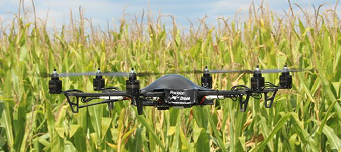 Using Drones in Agriculture | ... drones, like this one from Precision Drone LLC...