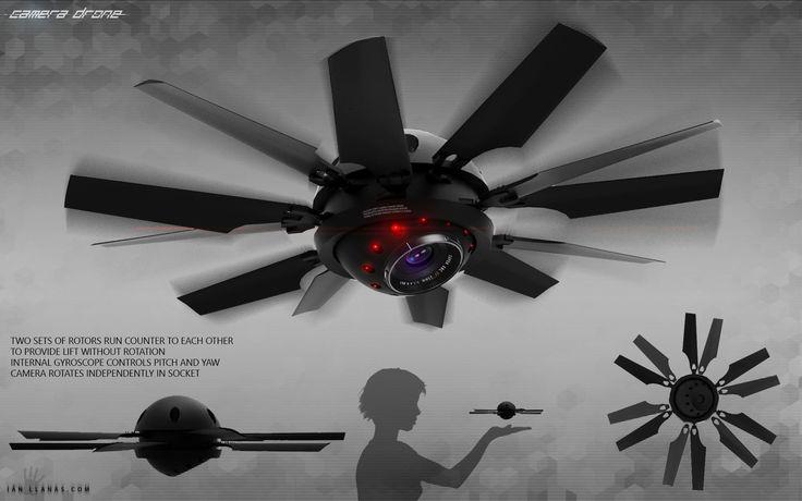 ArtStation - Camera Drone Concept, Ian Llanas #droneconcept