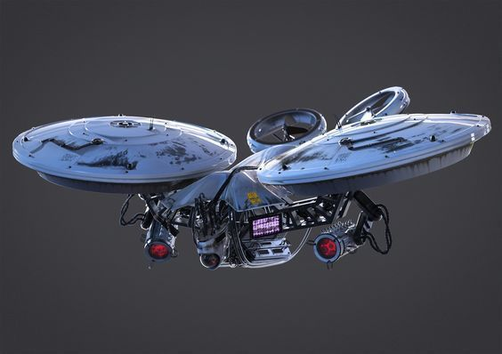 ArtStation - Aerial Drone Concept, Dieter Pilger #droneconcept