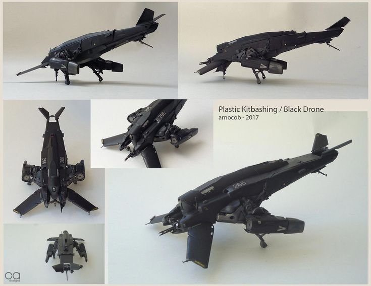 ArtStation - Plastic kitbashing / Black Drone, arnaud caubel #dronekits