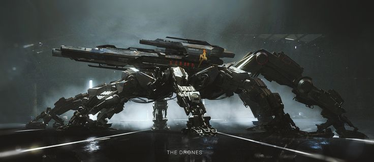 The Drones-Game Concept Art by Alexey Andreev | Sci-Fi | 2D | CGSociety