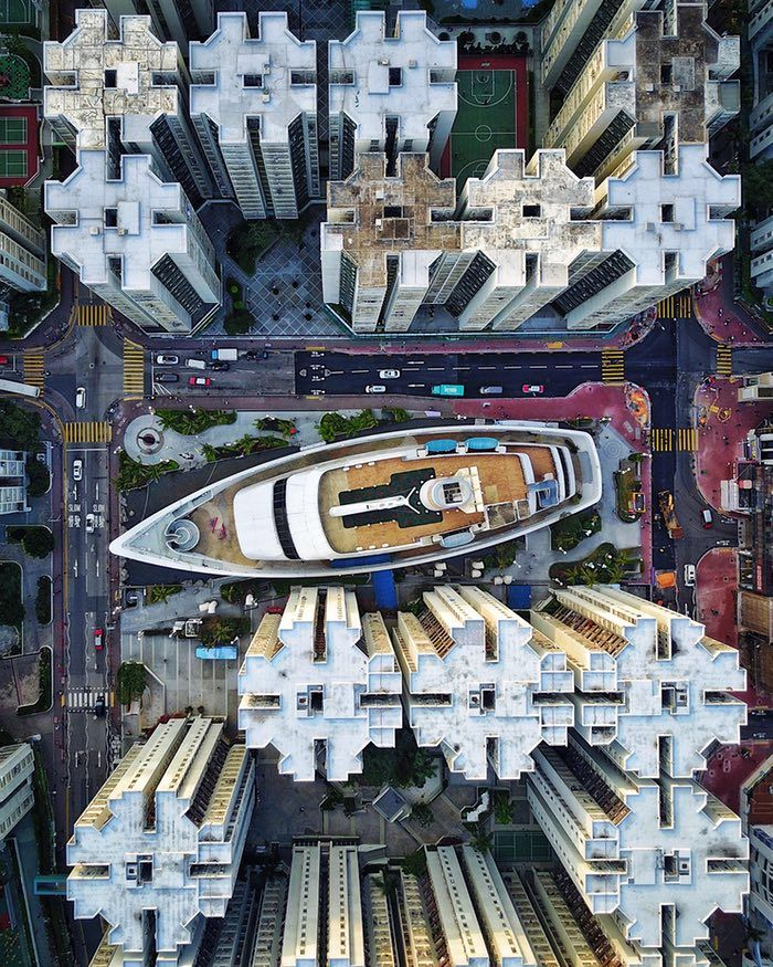The new view from above: drone photography captures city symmetry – in picture...