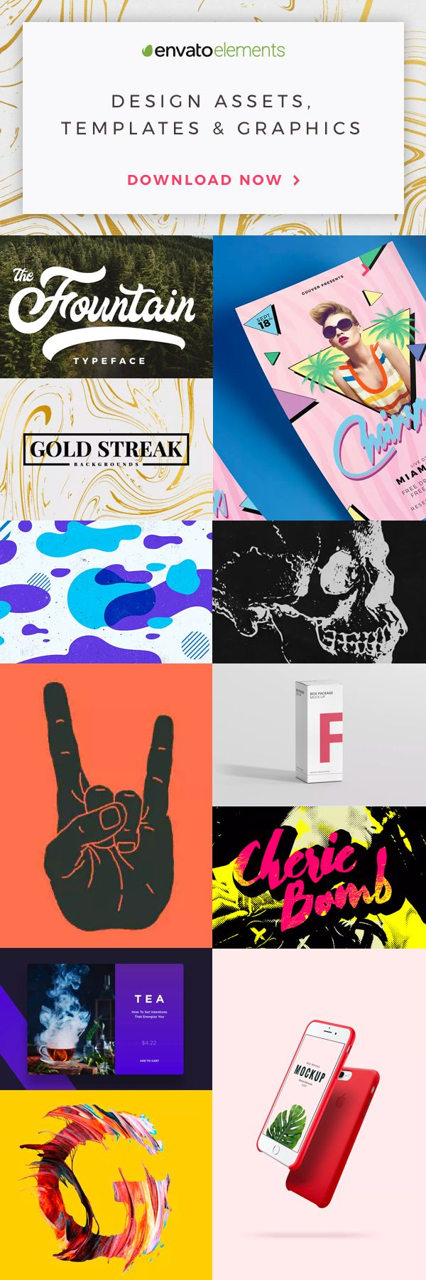 Unlimited Downloads of 2018's Best Graphic Templates