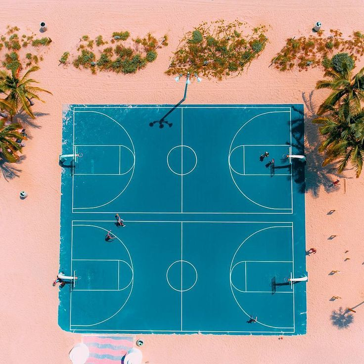 @hypecourts: Beach ball. Photo: @flye_drones