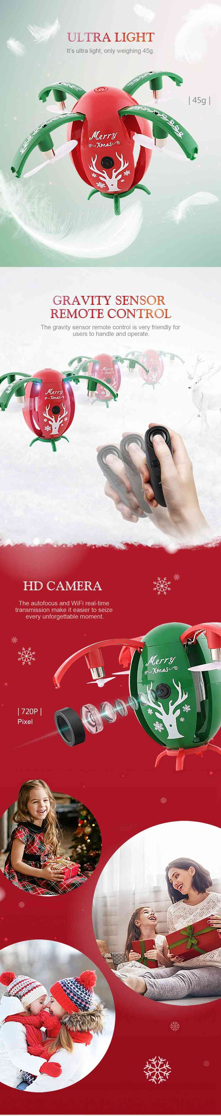 Christmas Egg Drone Quadcopter Kids Christmas Gift Presents