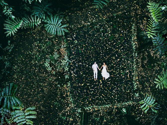 Fall In Love With Drone Wedding Photography – Helene Havard