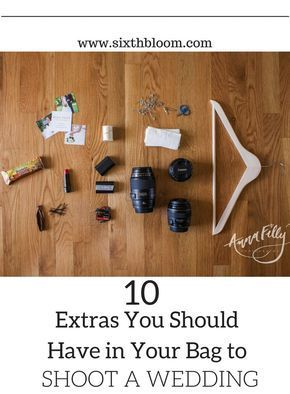 10 Extras: What's in Your Wedding Photography Bag